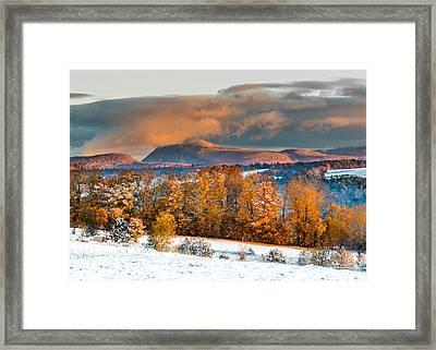 Vermont Snowliage Scene Framed Print