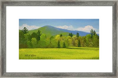 Framed Print featuring the painting Vermont Spring by Frank Wilson