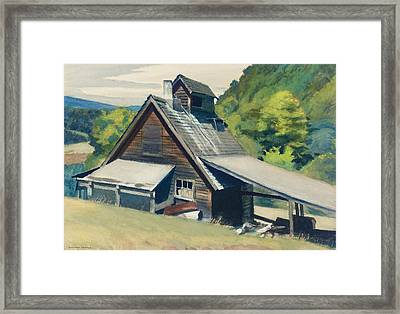 Vermont Sugar House Framed Print by Edward Hopper
