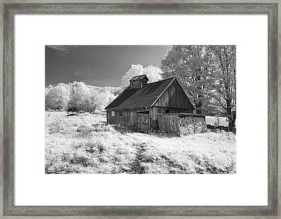 Vermont Sugar Shack In Infra Red Framed Print
