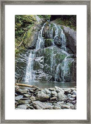 Vermont Waterfall Framed Print