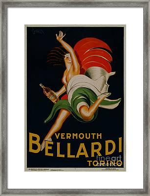 Vermouth Bellardi Torino Vintage Poster Framed Print