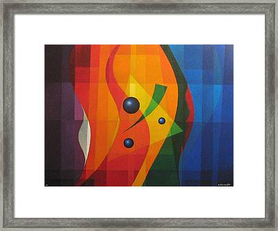 Vernal Composition Framed Print by Alberto D-Assumpcao