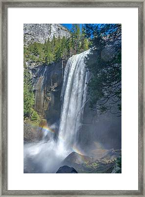 Framed Print featuring the photograph Vernal Fall Yosemite National Park by Scott McGuire