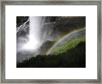 Vernal Falls And Rainbows Framed Print