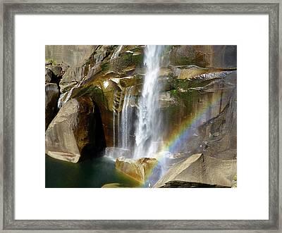 Vernal Falls Mist Trail Framed Print