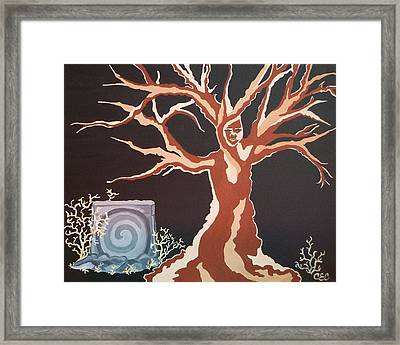 Framed Print featuring the painting Vernal Keep by Carolyn Cable