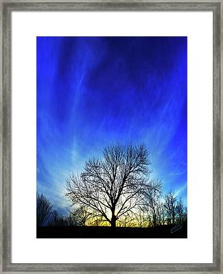 Vernal Sunset Framed Print