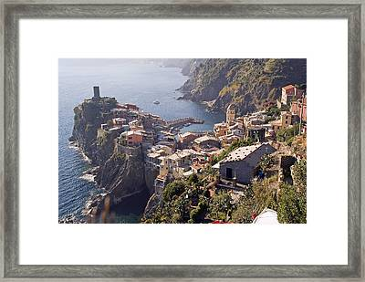 Vernazza And The Cinque Terre Framed Print by Rod Jones