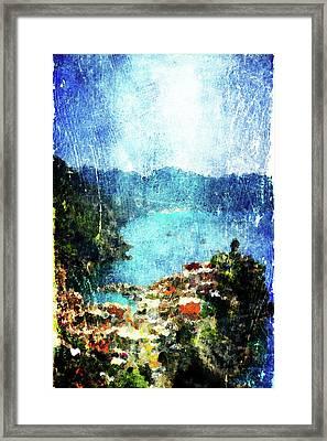 Vernazza Framed Print by Andrea Barbieri