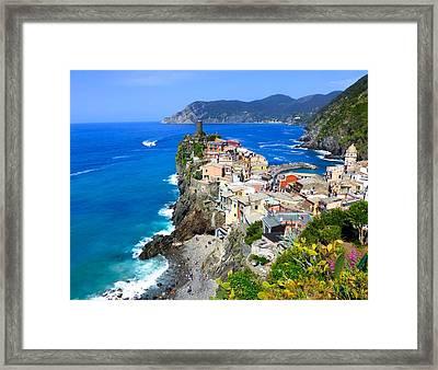 Vernazza Cinque Terre Framed Print
