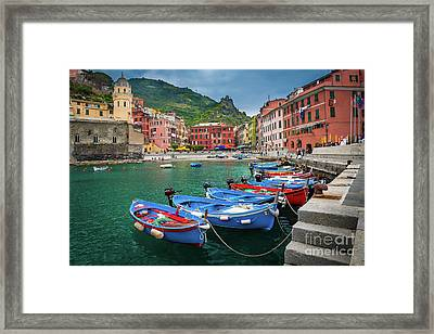 Vernazza Harbor Framed Print