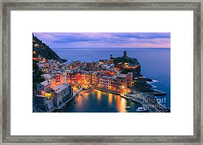 Vernazza Is One Of The Five Towns That Make Up The Cinque Terre  Framed Print by Henk Meijer Photography