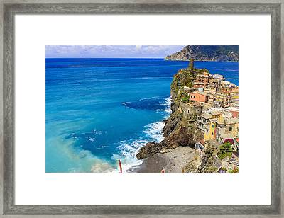 Vernazza Framed Print by Rick Starbuck
