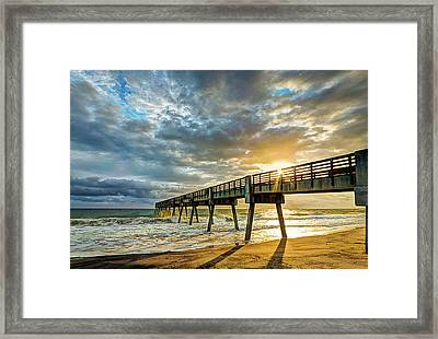Vero Beach Pier Summertime Framed Print