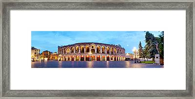 Framed Print featuring the photograph Verona Arena by Fabrizio Troiani