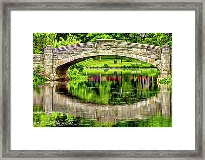 Verona Bridge In Spring Series Framed Print by Geraldine Scull