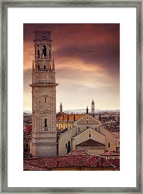 Verona Cathedral From St Peter's Hill  Framed Print