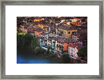 Verona City Of Romance Framed Print