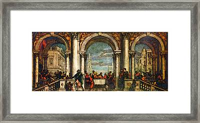 Veronese Feast In The House Of Levi Framed Print