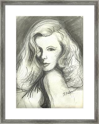 Veronica Lake Framed Print
