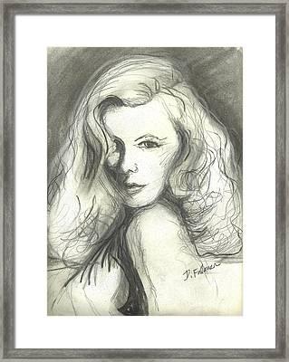 Veronica Lake Framed Print by Denise Fulmer