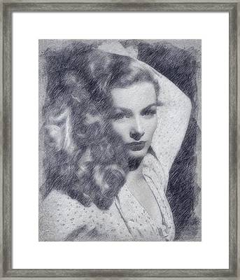 Veronica Lake Framed Print by John Springfield
