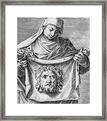 Veronica's Cloth Framed Print by Italian School