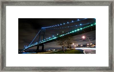 Verrazano-narrows Bridge Framed Print by Svetlana Sewell