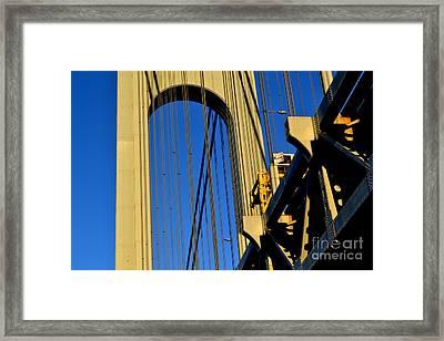 Verrazano Narrows Bridge Tower Framed Print