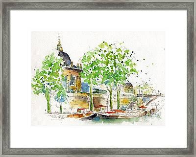Vers Pont Des Artes Framed Print