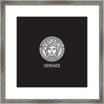 Versace - Black And White 02 Framed Print