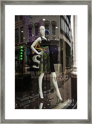 Versace Framed Print by David Bearden