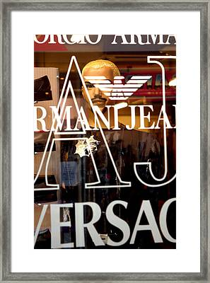 Versace Framed Print by Jez C Self