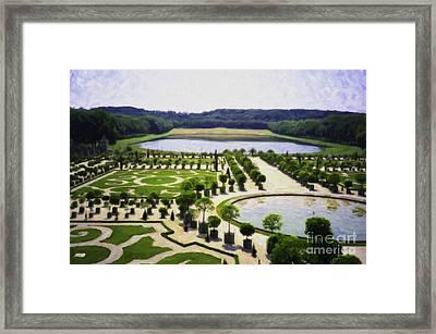 Versailles Digital Paint Framed Print