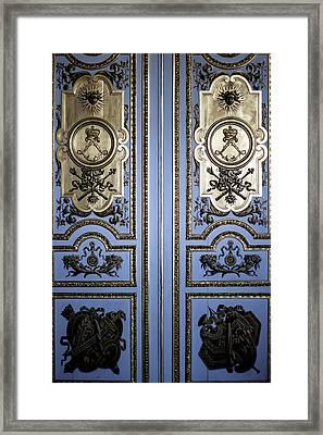 Versailles Door Framed Print by Georgia Fowler