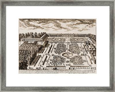 Versailles: Garden, 1685 Framed Print by Granger