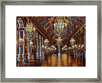 Versailles Hall Of Mirrors Framed Print by Russ Harris