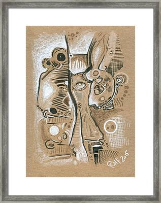 Versions Of Variables Framed Print by Ralf Schulze