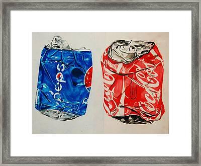 Versus Framed Print by Jean Cormier