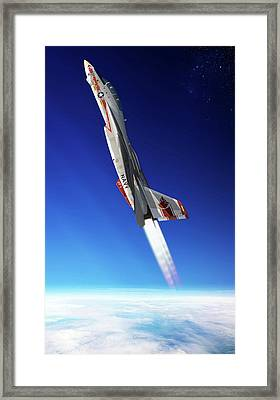 Vertical Burn Framed Print