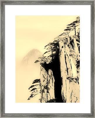 Vertical Cling Framed Print