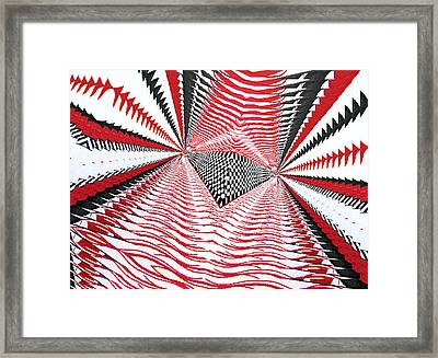 Framed Print featuring the digital art Vertical Illusion 2 by Barbara Giordano