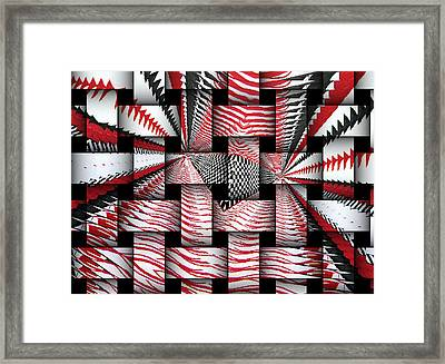 Framed Print featuring the digital art Vertical Illusion 3 by Barbara Giordano