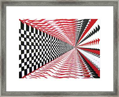 Framed Print featuring the digital art Vertical Illusion by Barbara Giordano