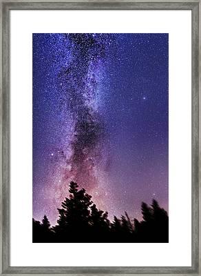 Vertical Milky Way Framed Print