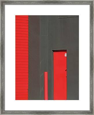 Vertical Red Framed Print