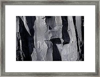 Vertical Trails Framed Print