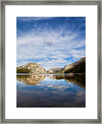 Vertical Version Of Lake Tenaya Framed Print by Mimi Ditchie Photography