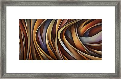 Verticle Design Framed Print by Michael Lang